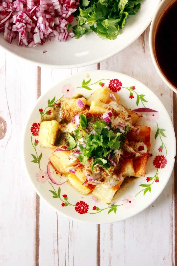 Baked Aloo Chaat